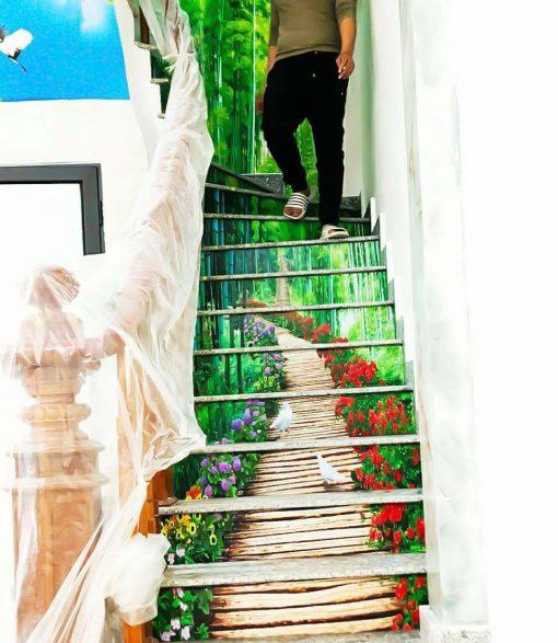 Tranh cổ bậc cầu thang giá rẻ