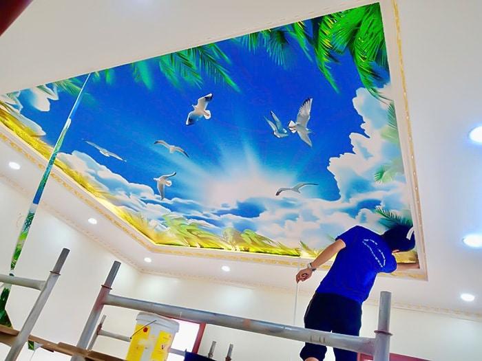 hình ảnh thi công tranh 3d tại hà nội