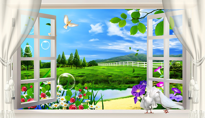 tranh cửa sổ
