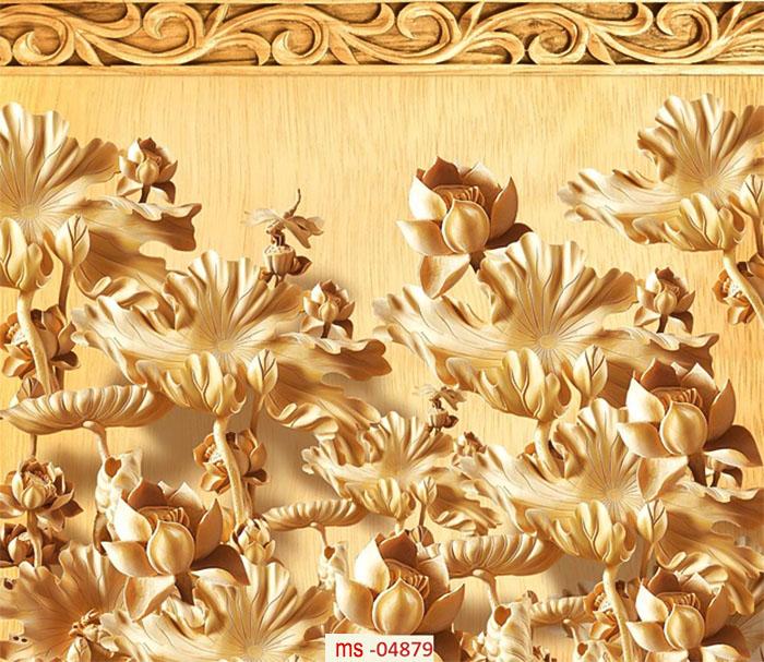 tranh gạch hoa sen
